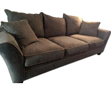 Green Suede 3 Seater Sofa