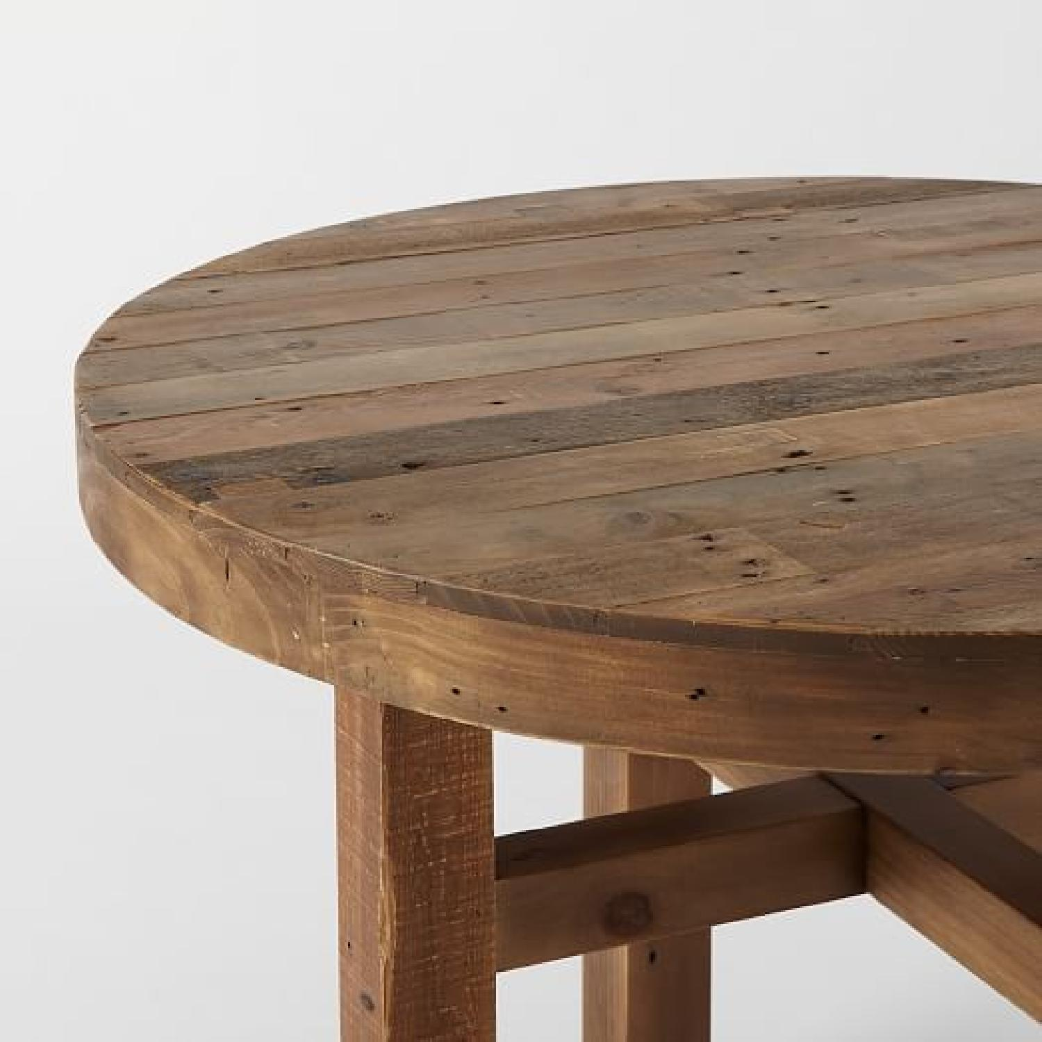 west elm emmerson round reclaimed pine dining table 0 - Pine Dining Table
