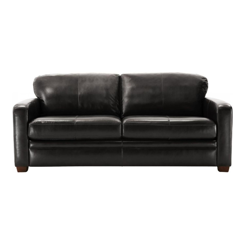 Raymour Flanigan Trent Leather Queen Sleeper Sofa Aptdeco ~ Leather Memory Foam Sleeper Sofa