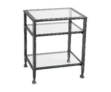 Pottery Barn Tanner Metal & Glass Side Table