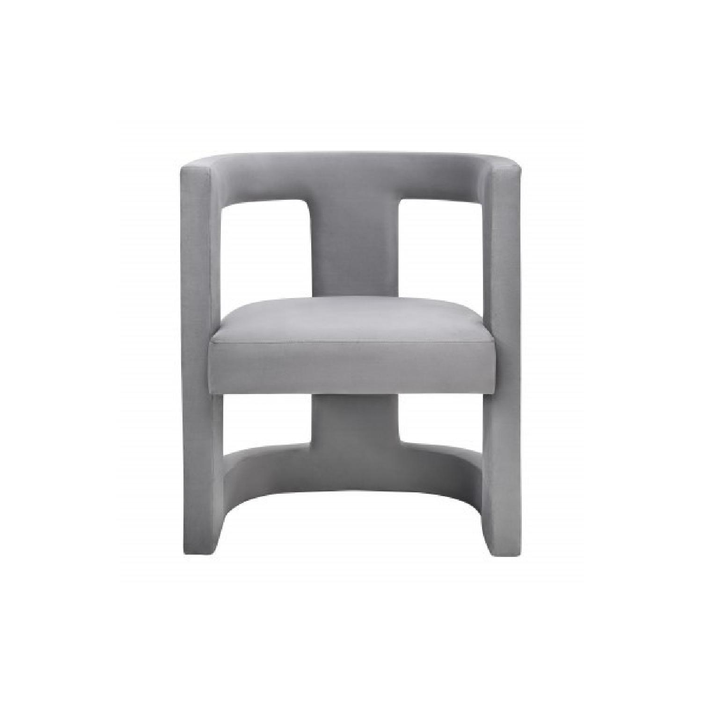 TOV Furniture Ada Grey Velvet Chair