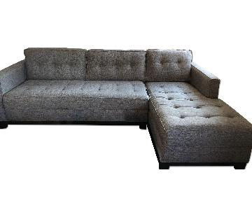 2 Piece Tufted Sectional Sofa w/ Chaise