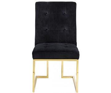 TOV Furniture Akiko Black Velvet Chair