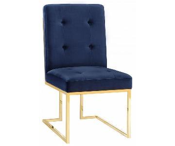 TOV Furniture Akiko Navy Velvet Chair