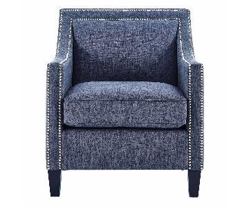 TOV Furniture Asheville Blue Linen Chair