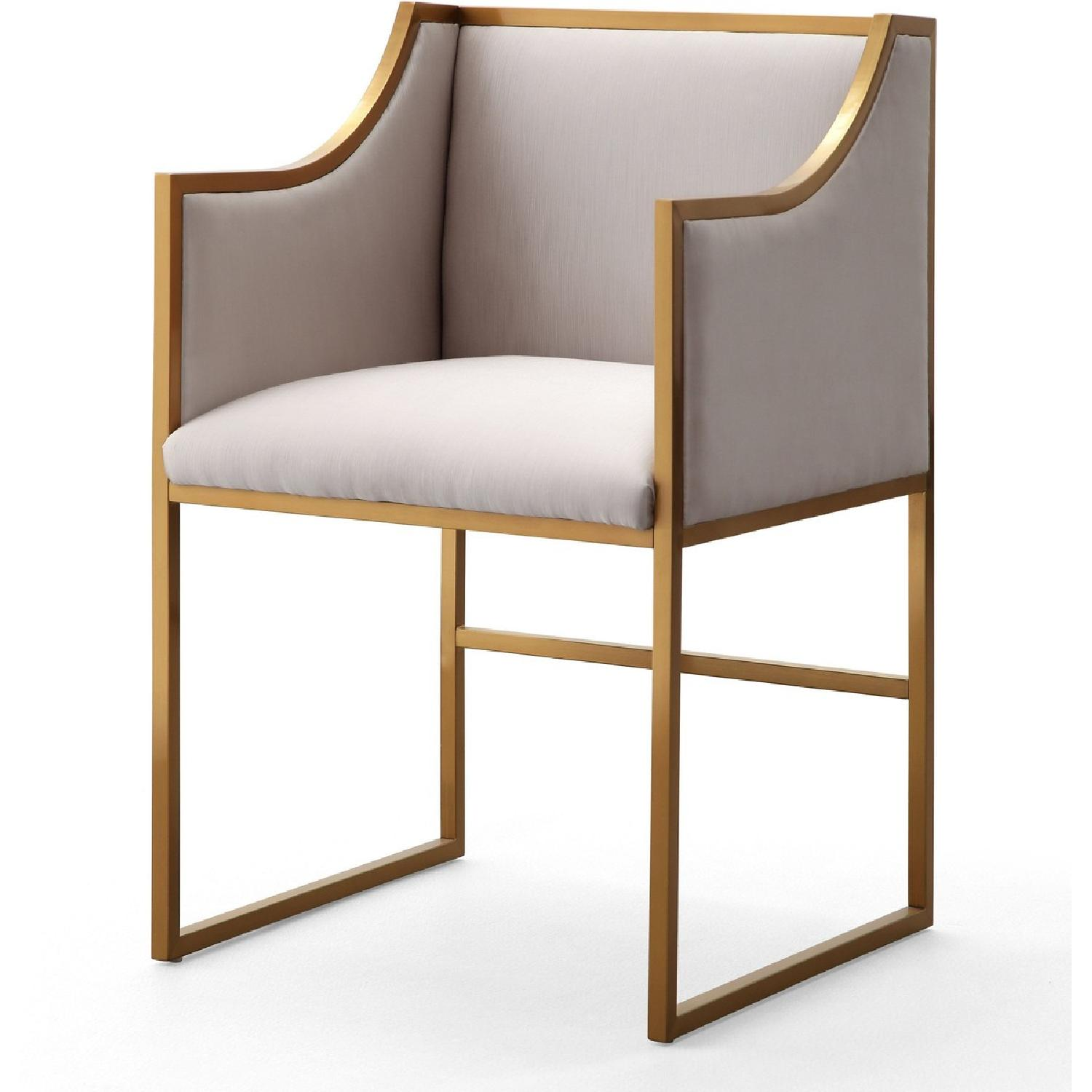 TOV Furniture Atara Cream Velvet Gold Chair