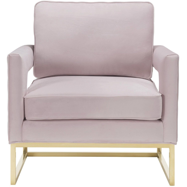 TOV Furniture Avery Blush Velvet Chair