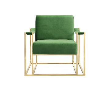 TOV Furniture Baxter Green Velvet Chair