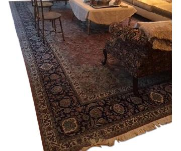 Salmon-Colored Persian Carpet