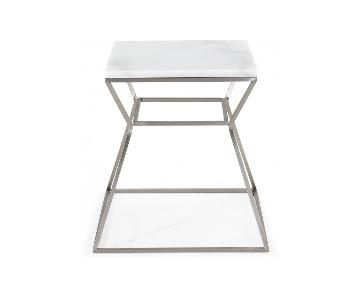 TOV Furniture Zamora Marble Side Table