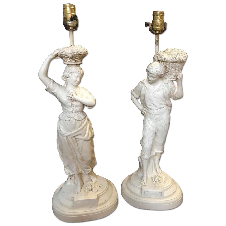 Vintage 1950s Figurine Lamp