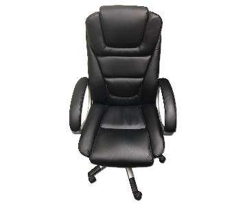 Black Executive Office Chair w/ Adjustable Seat Height