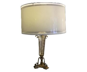 John Richard Panel Shade w/ Antiqued Brass Finish
