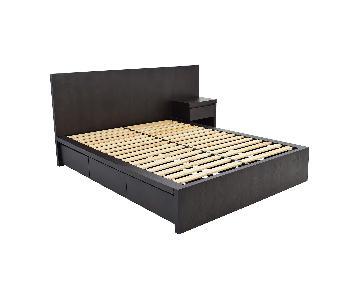 West Elm Storage Queen Bed w/ Nightstand