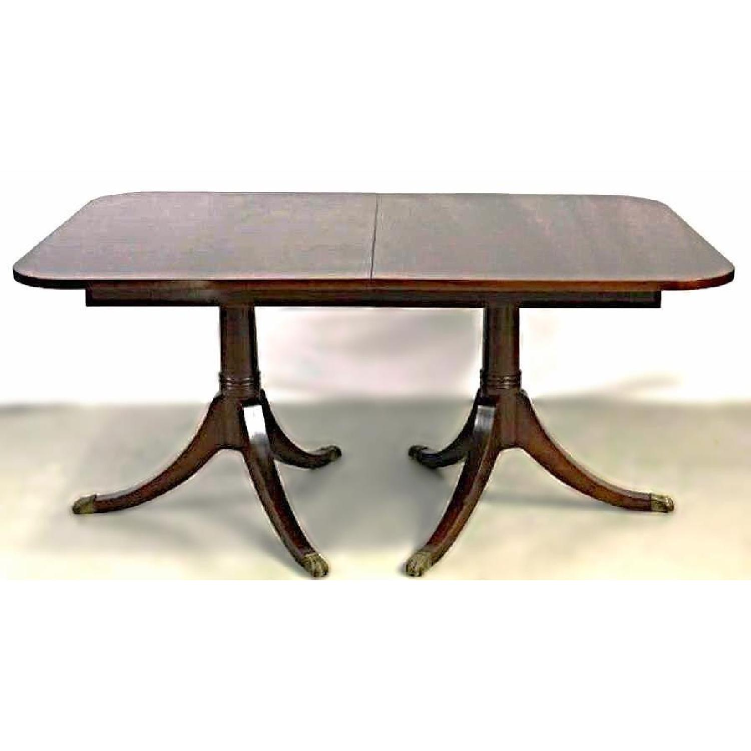 vintage sheraton style mahogany extension dining table 1 - Extension Dining Table
