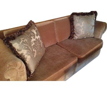 Rust-Colored 3-Seater Sofa