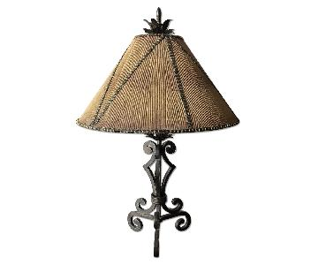 Decorative Metal Table Lamp w/ Metal Finial