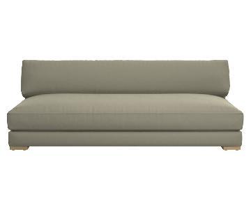 CB2 Piazza Microsuede Sofa