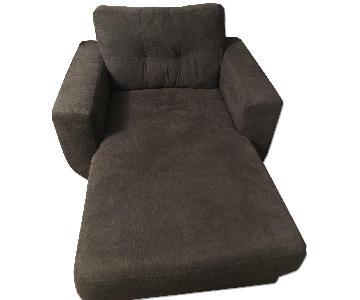 Ashley Dark Green Chaise Lounge