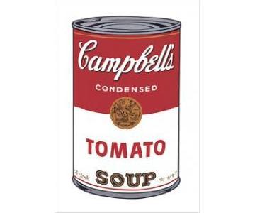 Andy Warhol Campbell Mounted Art Print - Tomato Soup