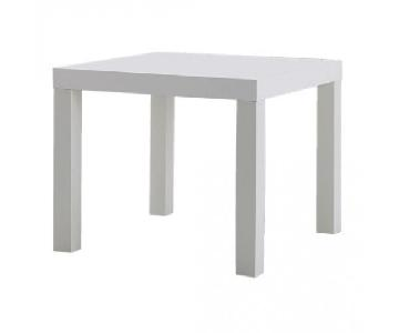 West Elm Parsons Square Dining Table in White