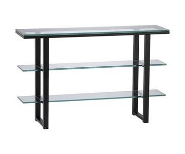 Crate & Barrel Mix Glass Console Table
