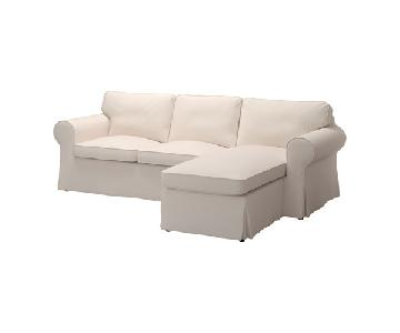 Ikea Ektorp Beige Sectional Sofa