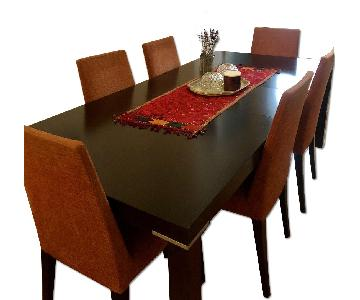 Jensen Lewis Della Robbia Extended Dining Table w/ 6 Chairs