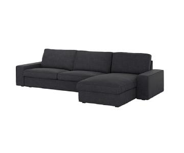 Ikea Kivik 2-Piece Sectional Sofa in Hillared Anthracite