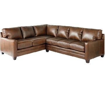 Bassett American Casual Ladson L-Shaped Sectional Sofa