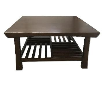Room & Board Square Wood Coffee Table