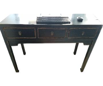 ABC Carpet and Home Slim Antiqued 3 Drawer Desk