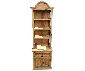 ABC Carpet & Home Wood Handmade Mexican Artisanal Bookshelf