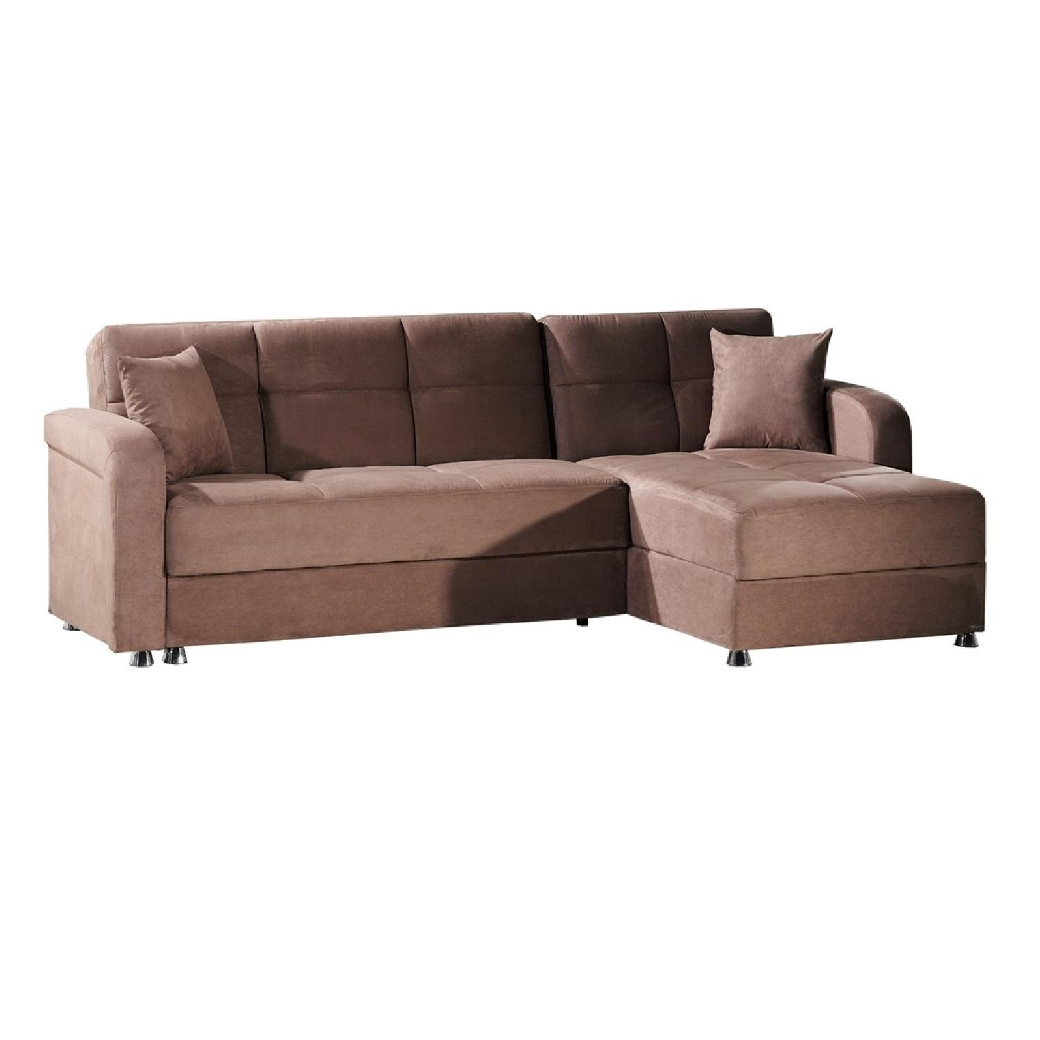 Istikbal 2 Piece Vision Diego Brown Sleeper Sectional Sofa ...