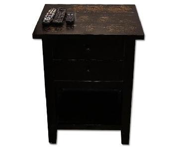 Crate & Barrel 2 Drawer Nightstand