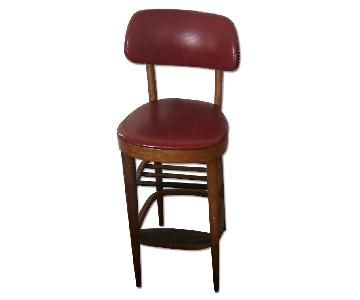 Olde Good Thing Danish Teak Vintage High Stool