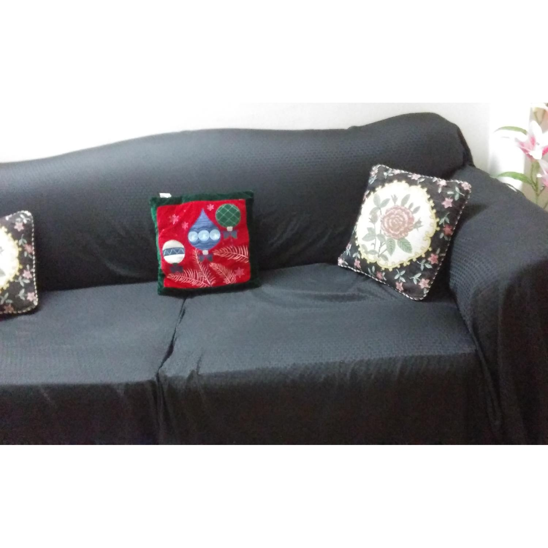 ... Grey Linen Sofa 1 ...
