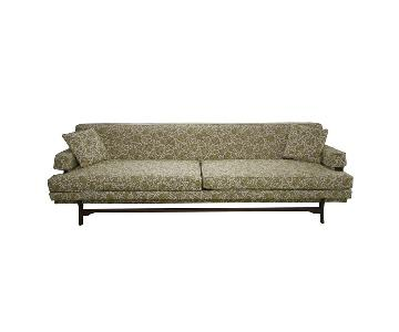 Mid-Century Upholstered Sofa w/ Tapered Legs