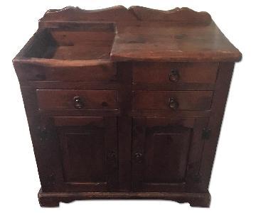 Vintage Solid Wood Dry Sink