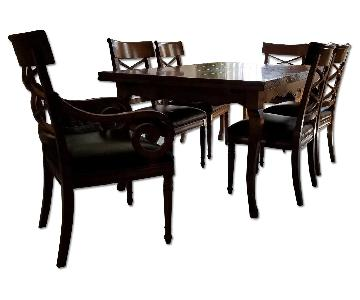 Baker Milling Road French Maple Extension Table w/ 6 Chairs