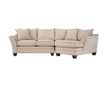 Raymour & Flanigan 2 Piece Microfiber Sectional Sofa