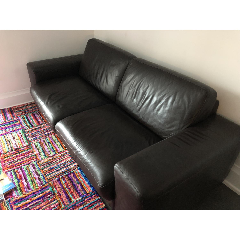 Natuzzi Brown Leather Sleeper Sofa Aptdeco ~ Brown Leather Sleeper Sofa