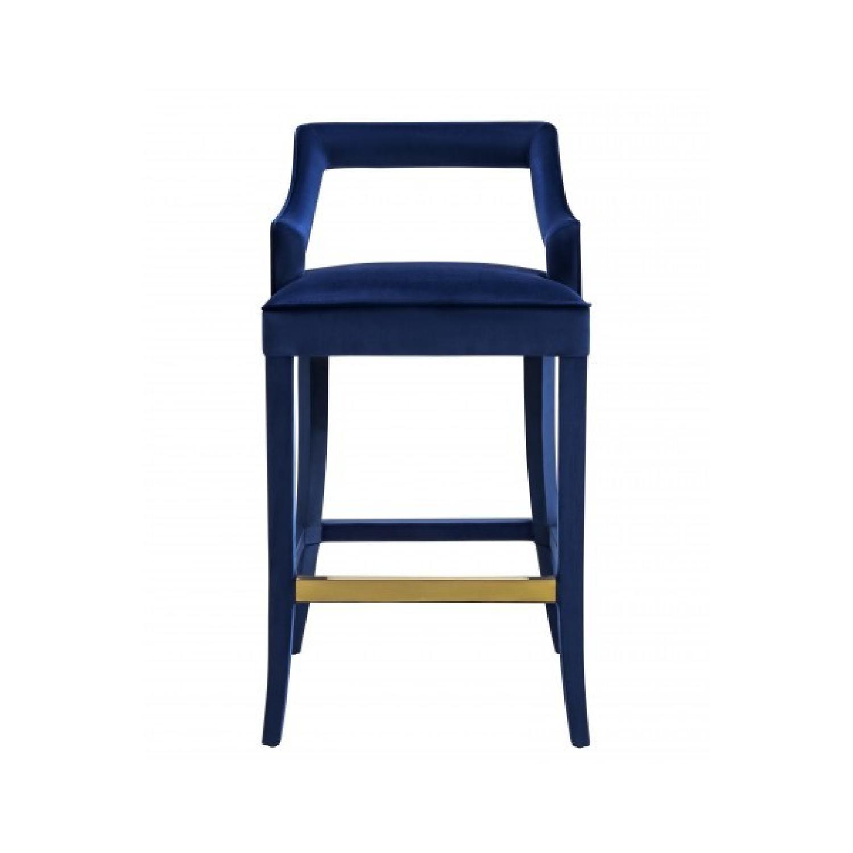 Tov Furniture Tiffany Navy Velvet Bar Stool Aptdeco