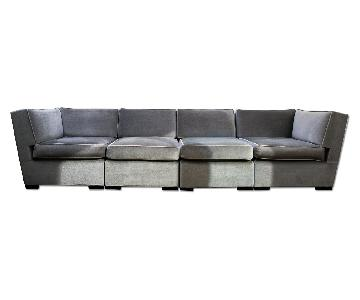 Angelo Donghia 4-Piece Sectional Sofa in Luxe Mohair
