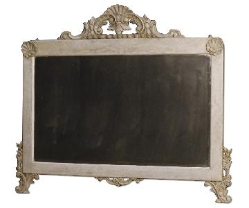 20th Century Italian Mirror in Carved & Painted Wood