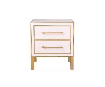 TOV Furniture Emily Pink Lacquer Side Table
