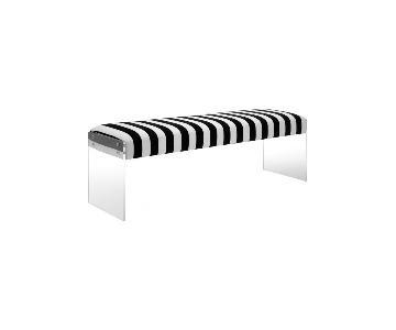 TOV Furniture Envy Paris Velvet/Acrylic Bench