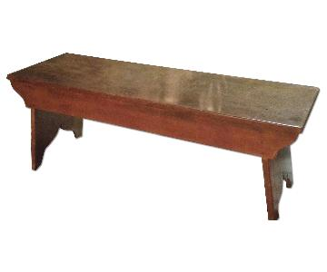 Early American Farm Bench