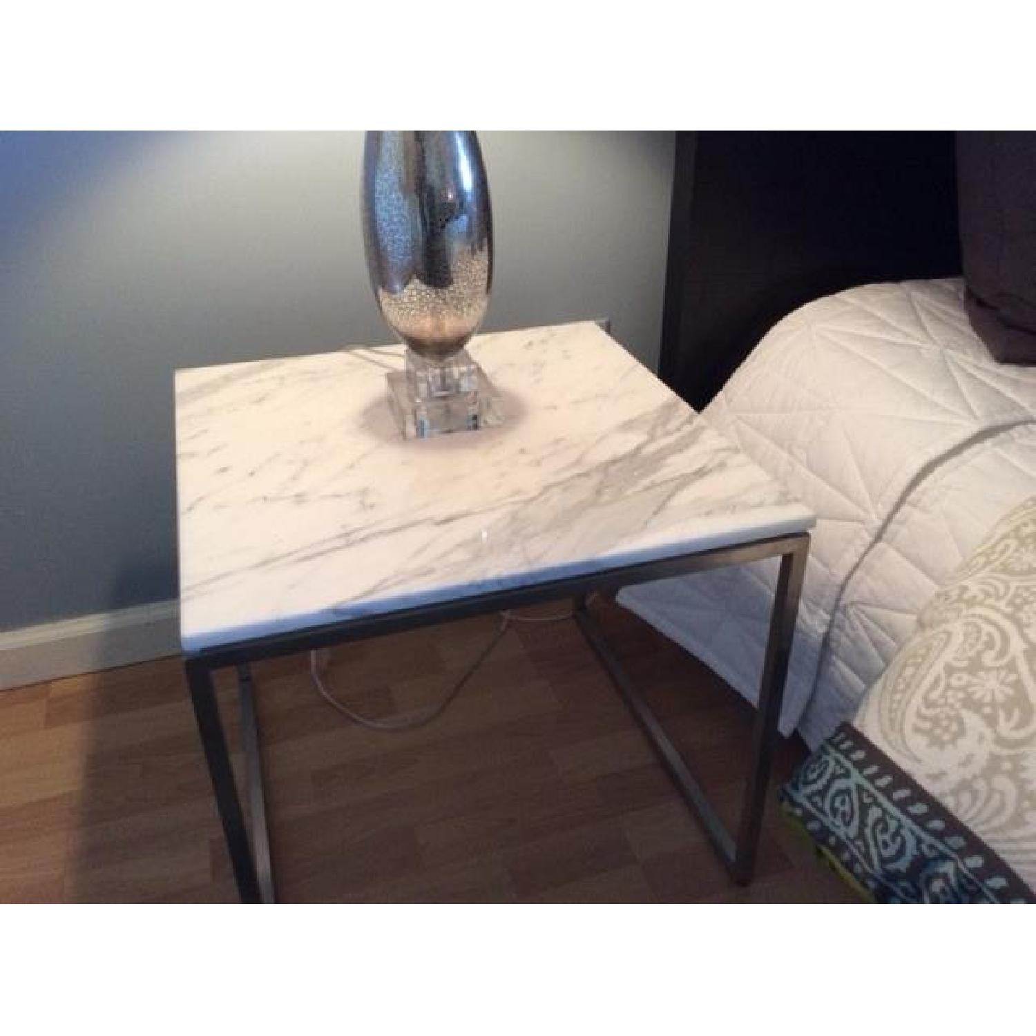 Design Within Reach Rubik Marble Side Tables - Pair - image-1