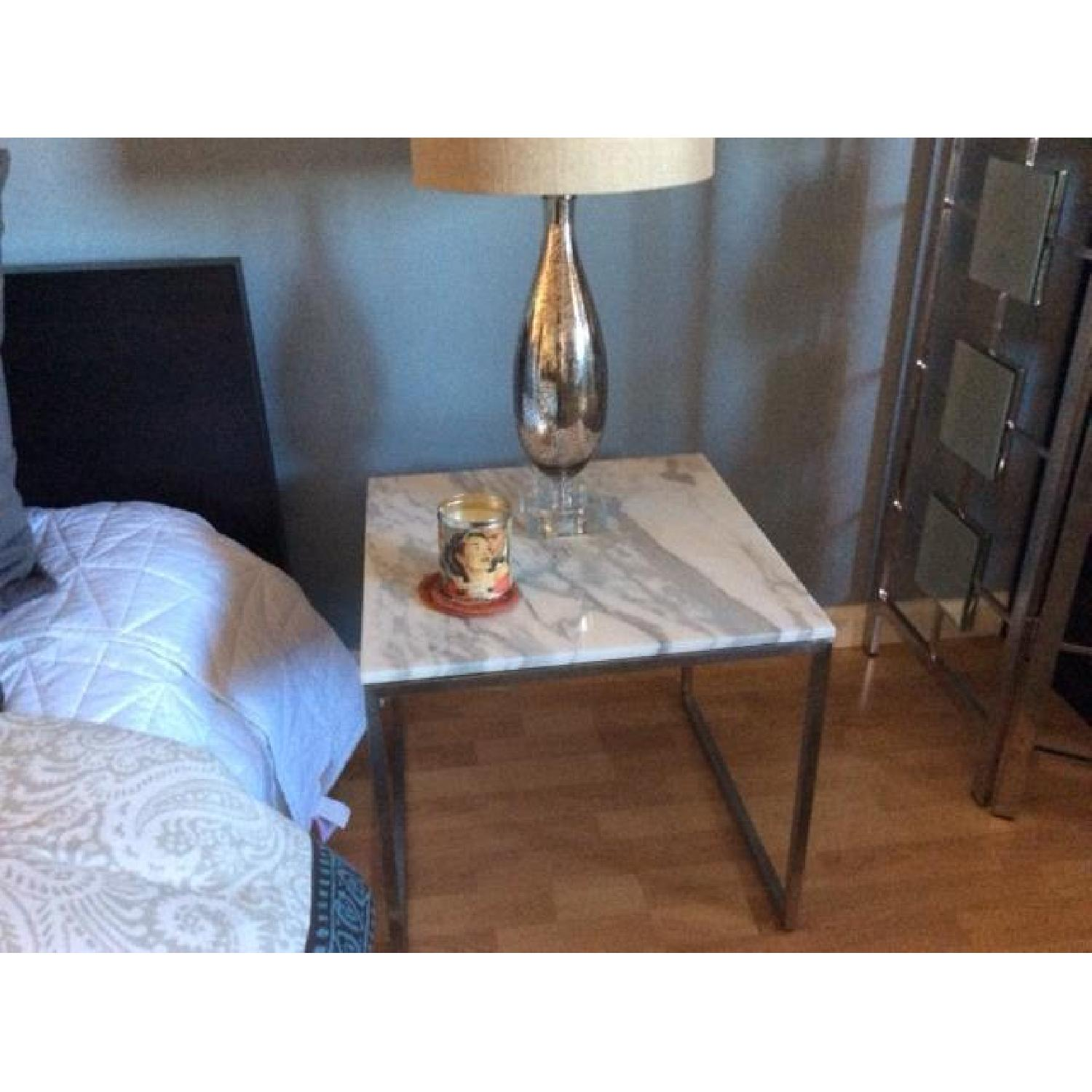 Design Within Reach Rubik Marble Side Tables - Pair - image-2